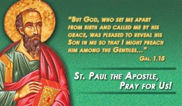 ST. PAUL THE APOSTLE NOVENA STARTS JUNE 21--JOIN US!