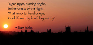 Tyger Tyger, Burning Bright – William Blake