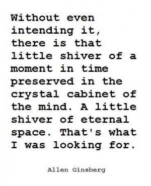 ... of eternal space that s what i was looking for allen ginsberg # quotes