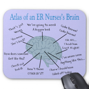 Atlas of an ER Nurse's Brain Gifts Mouse Pads