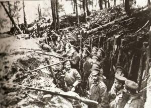Russian trench near Sarikamish. United Kingdom Government photograph ...