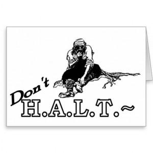 12 Step Cards Sober Recovery Funny HALT TRUDGE