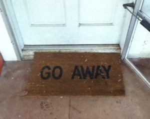 ... Do Not Disturb Us – Go Away Funny Door Mat Way To Avoid Guest