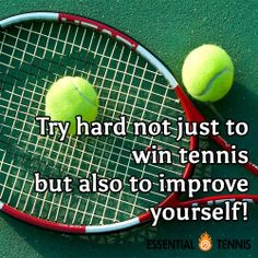 Tennis Quote: Try hard not just to win tennis but also to improve ...