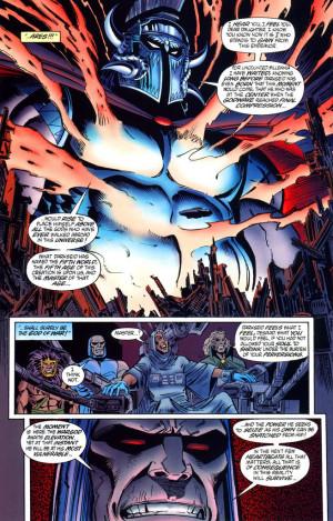 Supervillain fight : Darkseid vs Thanos