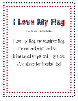 Poem - I Love My Flag