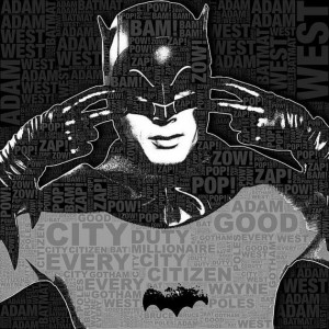 TV Batman Adam West and Quotes Giclee Print