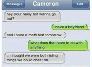 funny #cameron #texting #follow #cheating #math #boyfriend #like