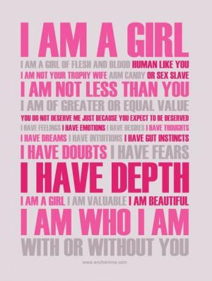 am a GIRL...