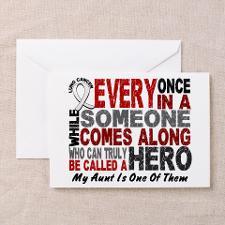 Lung Cancer Awareness Greeting Cards