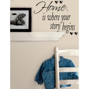 ... HOME IS WHERE YOUR STORY BEGINS WALL DECALS Room Quotes Stickers Decor