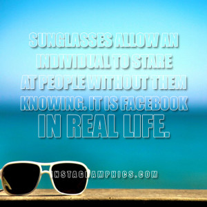 Facebook In Real Life Quote Graphic