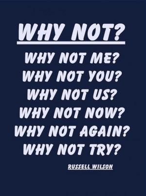 Quote Poster Russell Wilson Seattle Seahawks by ArleyArtEmporium, $11 ...
