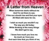 Happy Birthday Grandma In Heaven A letter from heaven