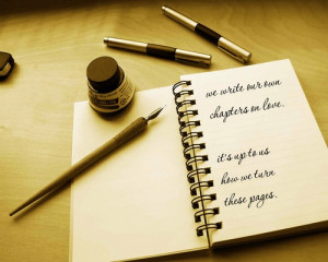 We write our own chapter on love quotes