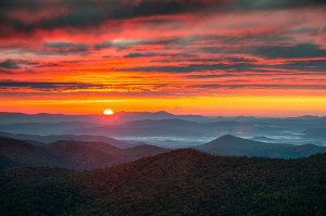 October Sky Blue Ridge