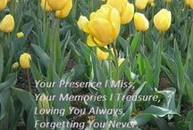 In Memoriam / Memorial and grief quotes in remembrance of my MOTHER