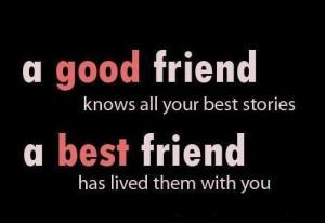 18 Good Friend Best Friend comparison Quotes