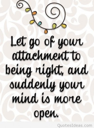 Let go your attachment quote