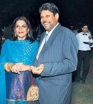 sangeeta bijlani miss india 1980 kapil dev and wife romi dev