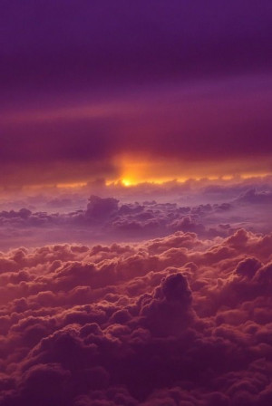 Sunset above the clouds - I love clouds even more than I love ...
