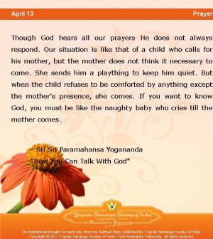 April 13: Daily Wisdom from Yogananda