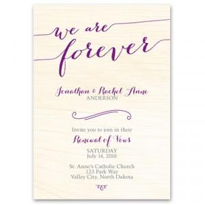 Wedding Vow Renewal Invitation Wording