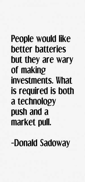 People would like better batteries but they are wary of making ...