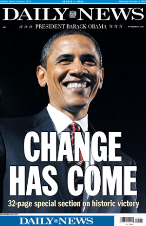 Barack Obama becomes the first African-American president of the ...