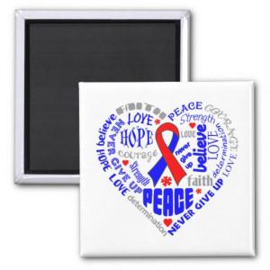 Congenital Heart Disease Awareness Heart Words Refrigerator Magnet
