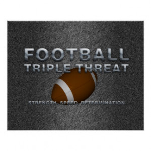 TOP Football Triple Threat Poster