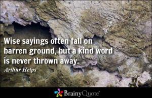 Wise Sayings Often Fall...