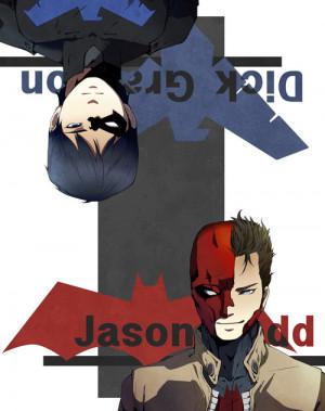 dick grayson jason todd Nightwing redhood