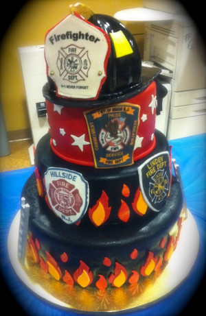 Firefighter Boyfriend Quotes Firefighter's graduation cake