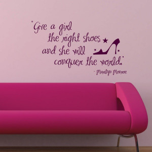 Marilyn Monroe Conquer The World Quote Wall Decal 17