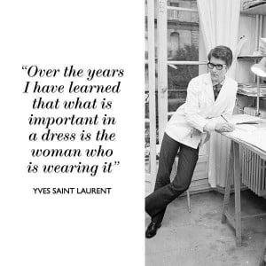 Yves Saint Laurent #Quotes #Dress