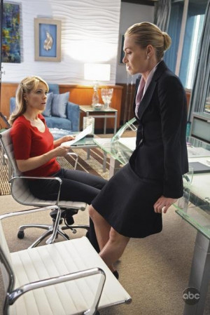 Still of Portia de Rossi and Andrea Anders in Better Off Ted (2009)