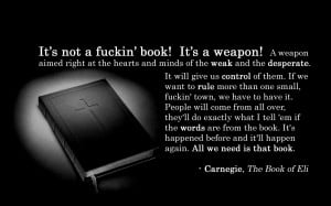 quotes weapons Bible books The Book of Eli wallpaper background