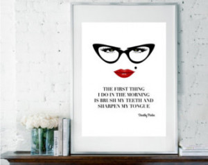 ... Quote, Gift for Her, Black and White Print, Sassy Quote, Sassy Poster
