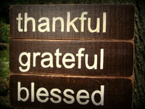 Wooden Handpainted Sign Thankful Grateful Blessed by 2ChickDeSigns, $ ...
