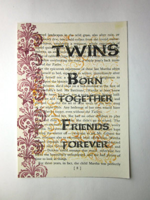 poems about twin sisters
