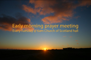 Early Morning Prayer Meeting Cross Ness Church Scotland