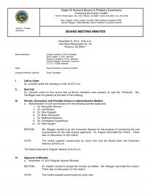 Staff Meeting Minutes