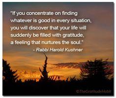 gratitude quote harold kushner thegratitudehabit more gratitude quotes ...