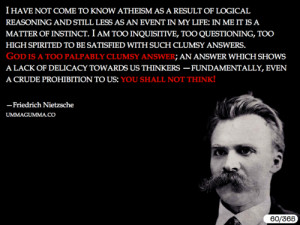 Quotes Nietzsche God ~ Friedrich Nietzsche - Daily Atheist Quote