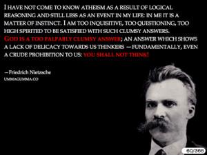 Quotes Nietzsche God ~ Friedrich Nietzsche - Daily Atheist Quote