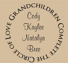 Grandchildren Complete Circle of Love, Vinyl Wall Design
