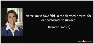 Voters must have faith in the electoral process for our democracy to ...