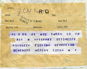Detail from a coded telegram sent by Ashmead-Bartlett (In the ...