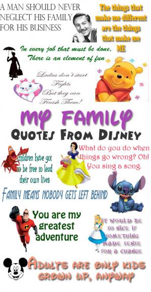 Disney Quotes Family